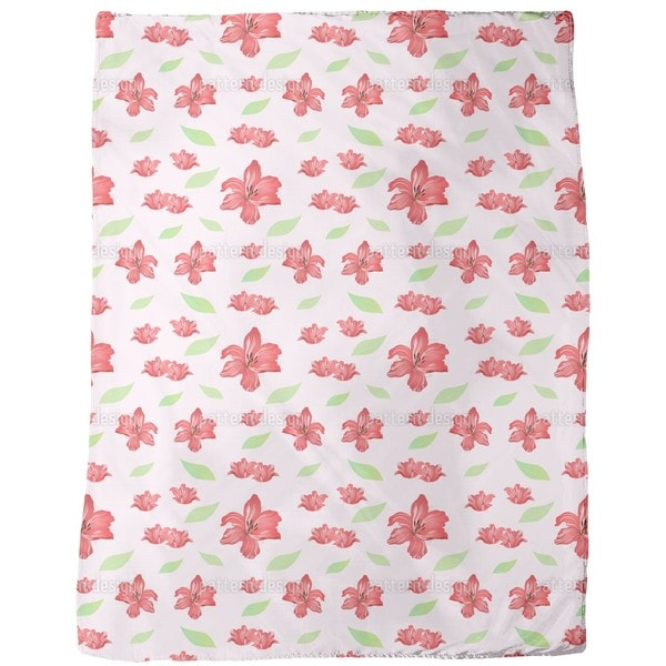 Passion For Lilies Fleece Blanket