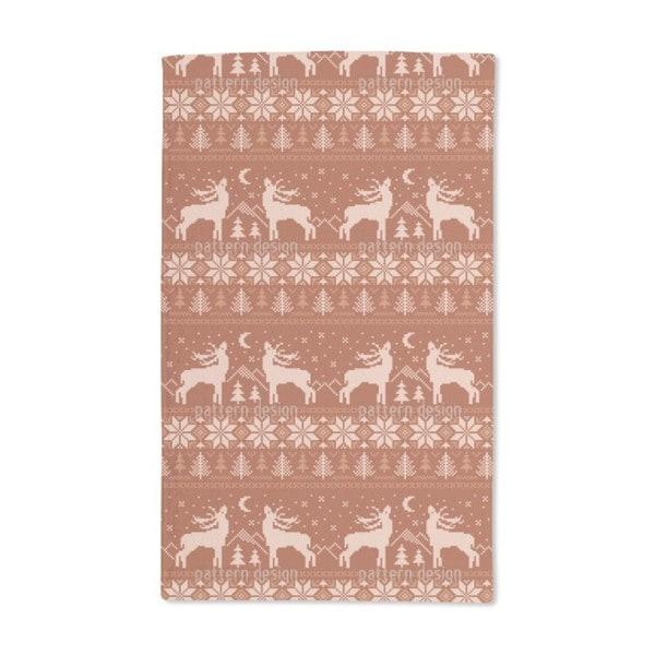 Roaring Deer in Norway Hand Towel (Set of 2)