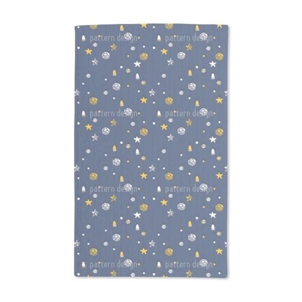 Christmas Decorations Blue Hand Towel (Set of 2)