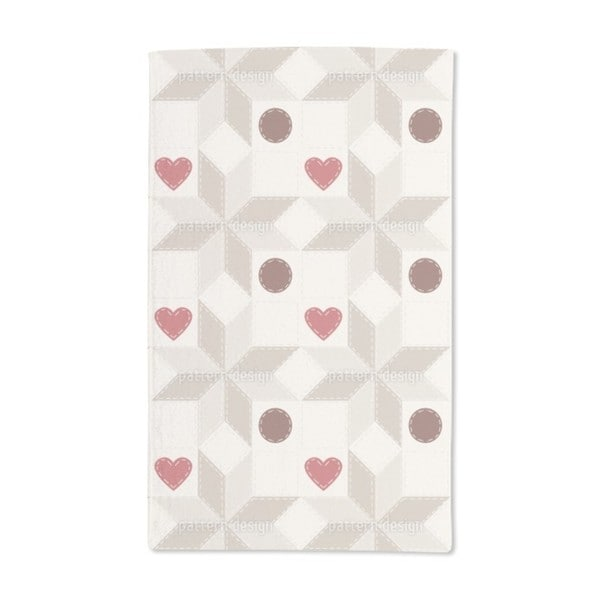Hearty Star Patchwork Hand Towel (Set of 2)