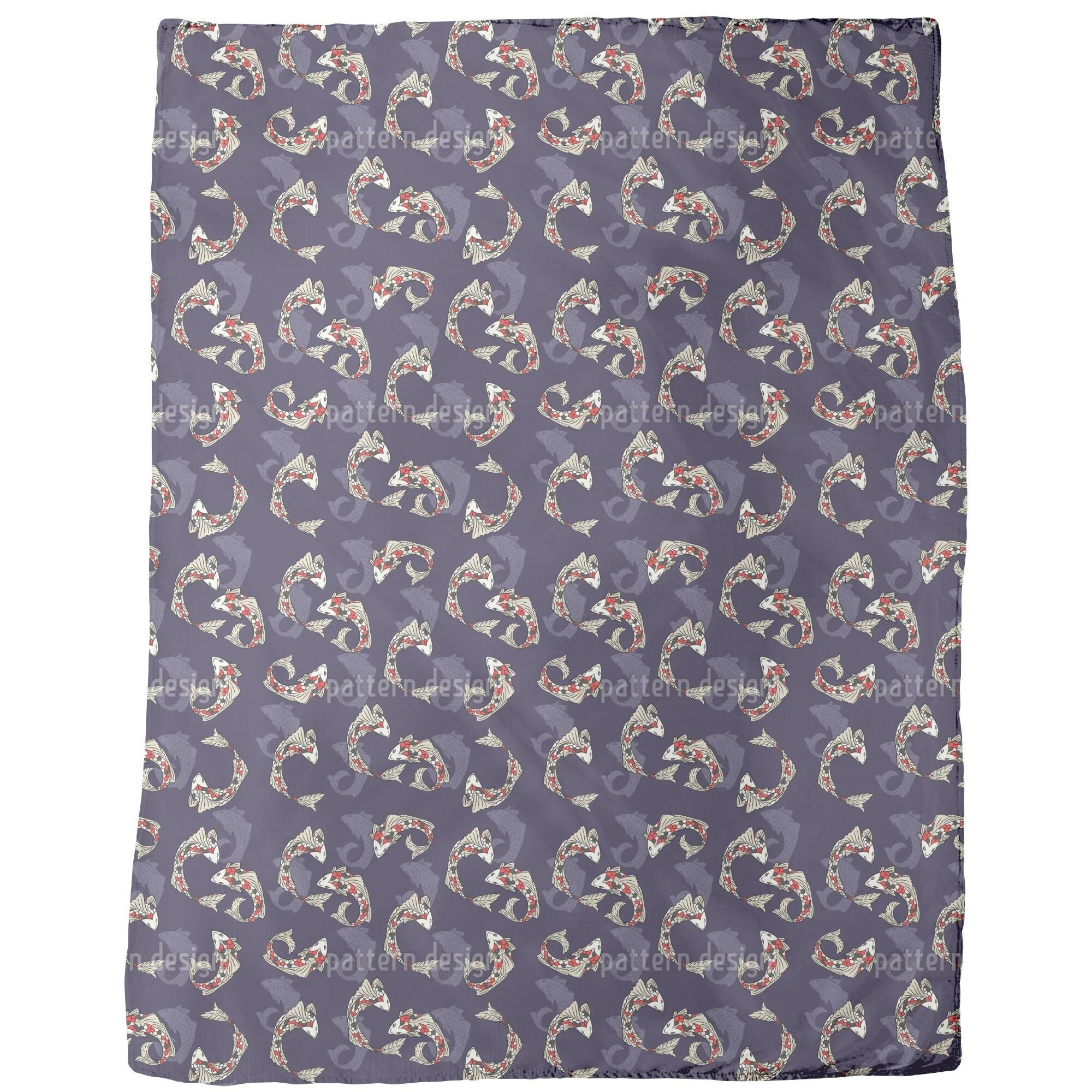 Uneekee Koi Fish Fleece Blanket (Medium), Multi