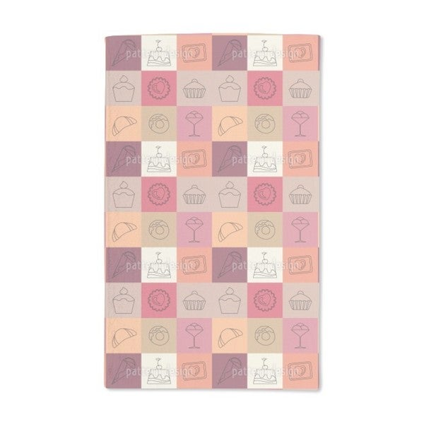 Sweet Squares Hand Towel (Set of 2)