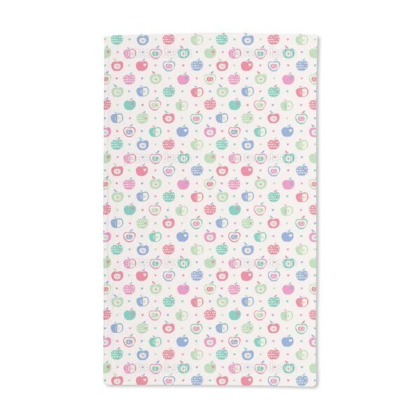 Apples and Hearts Hand Towel (Set of 2)