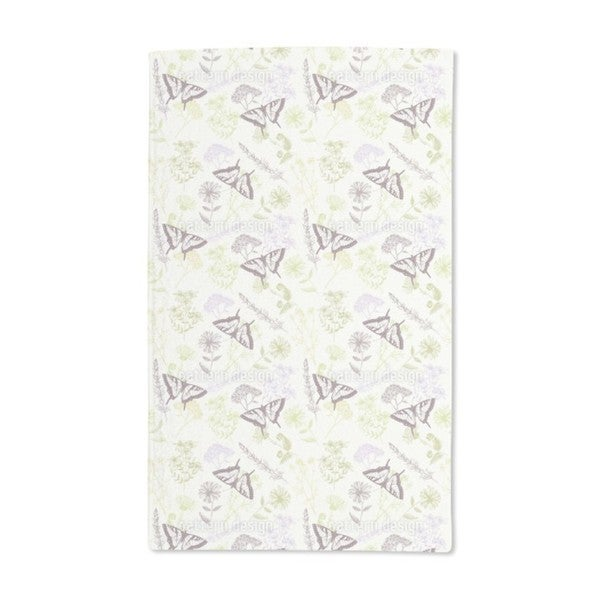 Herbal Plants and Butterflies Hand Towel (Set of 2)