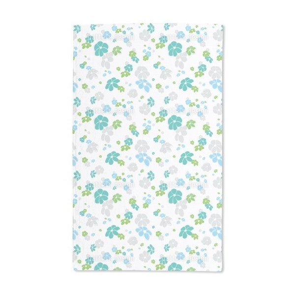 White Flower Rain Hand Towel (Set of 2)