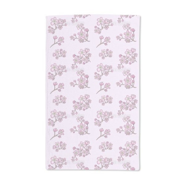 Apricot Blossoms Hand Towel (Set of 2)