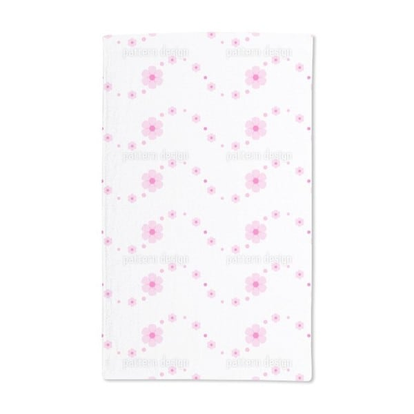 Flower Power Wave Hand Towel (Set of 2)