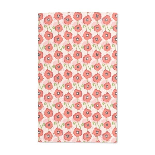 Red Poppies Hand Towel (Set of 2)