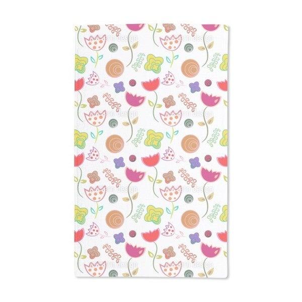 Annie's Little Flower Flirt Hand Towel (Set of 2)