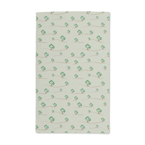 Trees on the Hill Hand Towel (Set of 2)