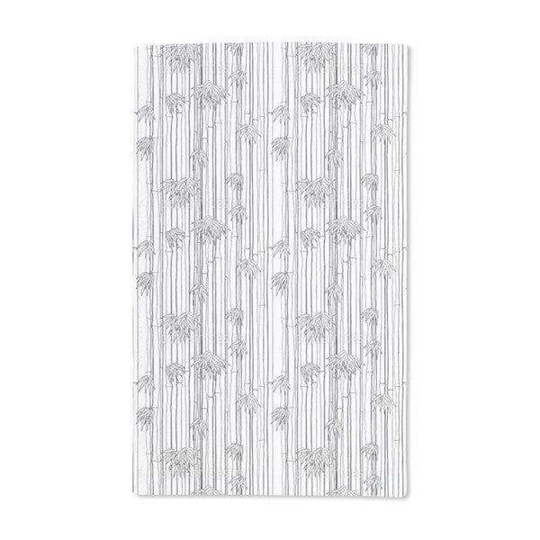Bamboli Black and White Hand Towel (Set of 2)