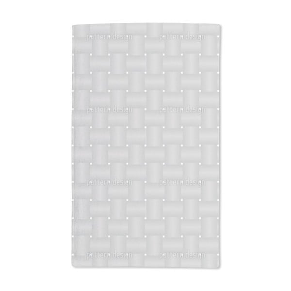 Intertwined Silver Hand Towel (Set of 2)