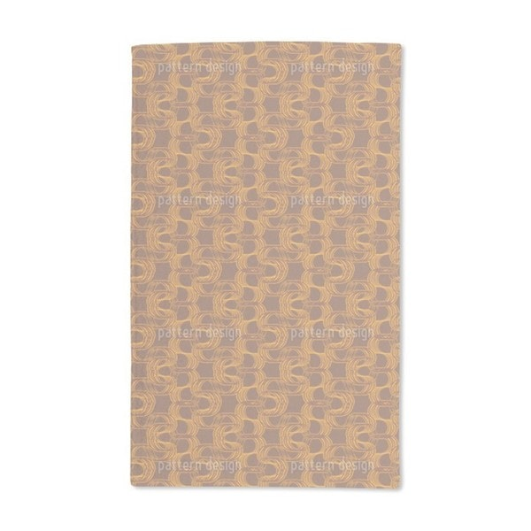 New Wave Brown Hand Towel (Set of 2)