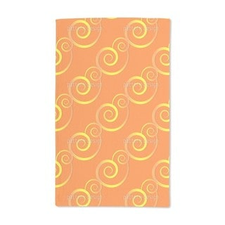 Curly Gold Hand Towel (Set of 2)