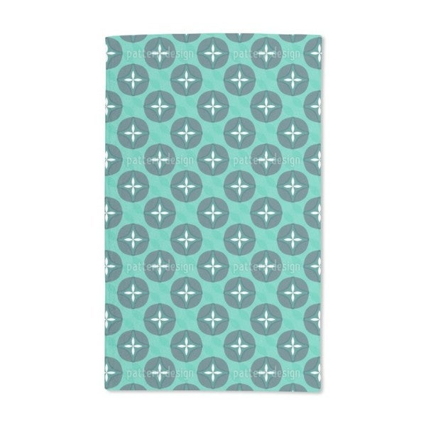 Abstract Blossoms With Waves Hand Towel (Set of 2)