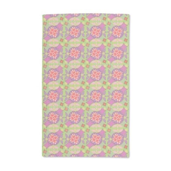 Floral Circles Hand Towel (Set of 2)