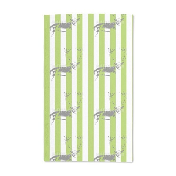 Deer in the Stripe Forest Hand Towel (Set of 2)