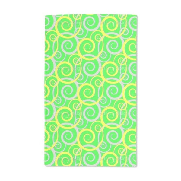 Curly Green Hand Towel (Set of 2)