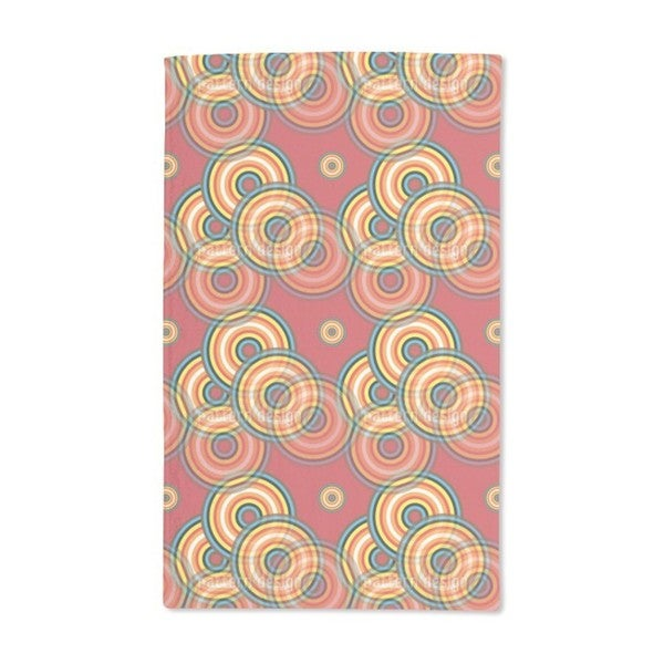 Colored Circles Hand Towel (Set of 2)