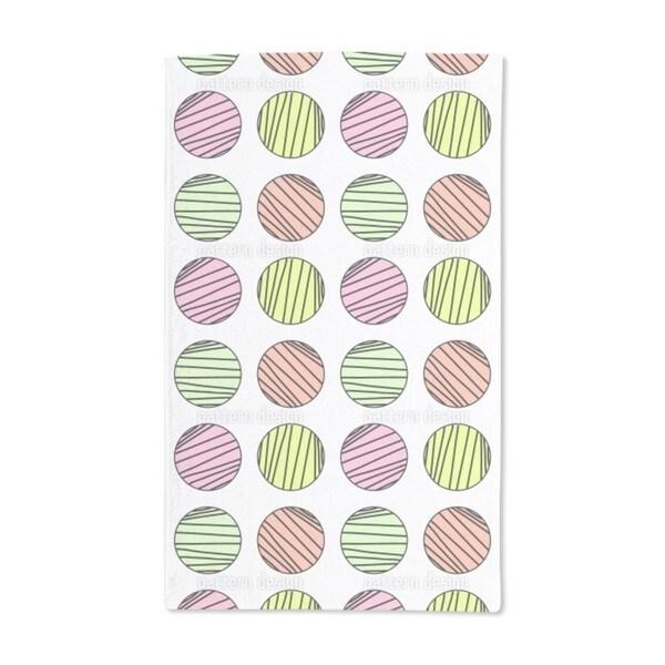 Striped Circles Hand Towel (Set of 2)