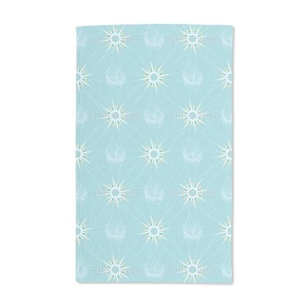 Sailing Pattern Hand Towel (Set of 2)