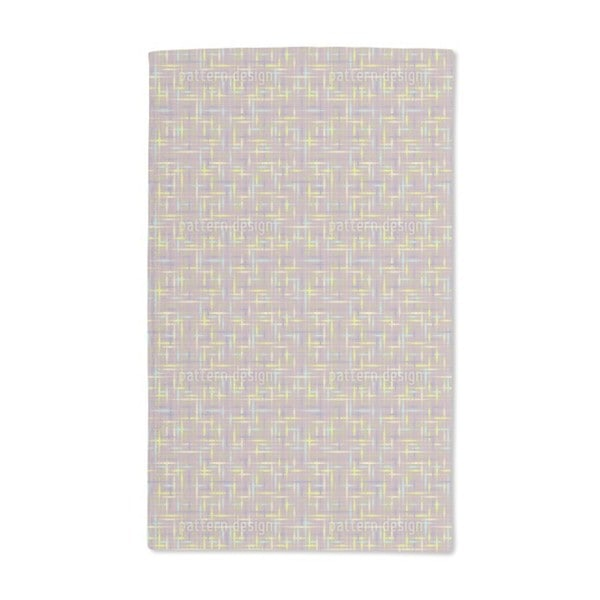 Textus Brown Hand Towel (Set of 2)