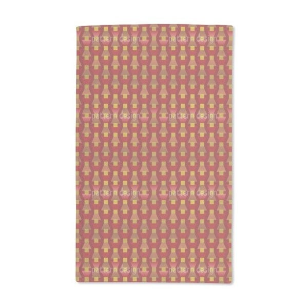 Fire Red on the Trapeze Hand Towel (Set of 2)