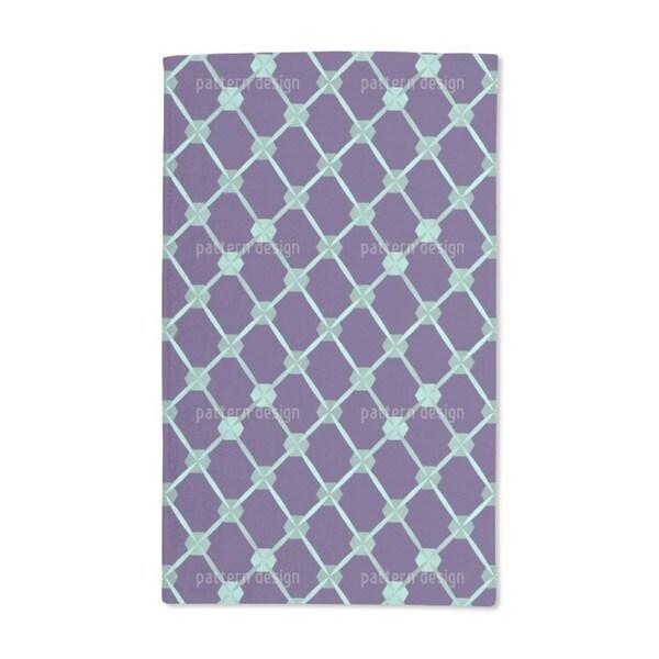 Hexagon Network Hand Towel (Set of 2)