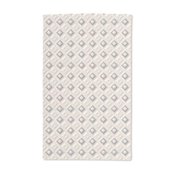 Elegant Diamond Dimension Hand Towel (Set of 2)