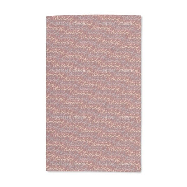 Happy Birthday Brown Hand Towel (Set of 2)