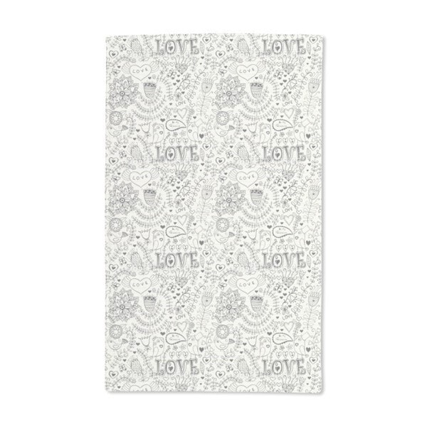 Valentines Day in the Notebook Hand Towel (Set of 2)