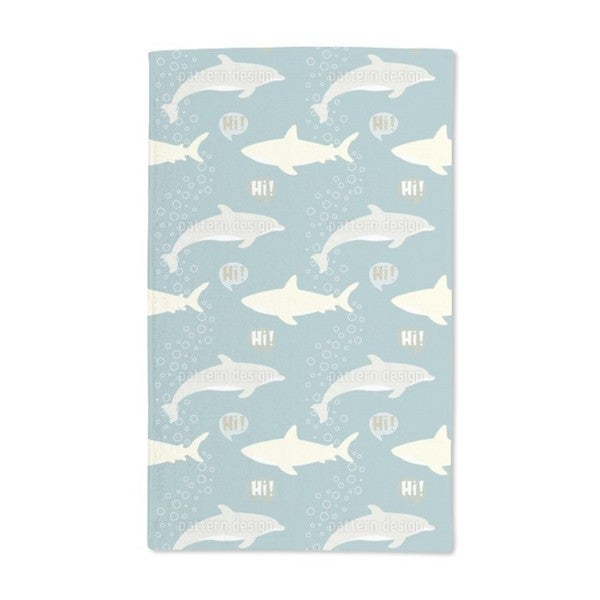 Shark and Dolphin Hand Towel (Set of 2)