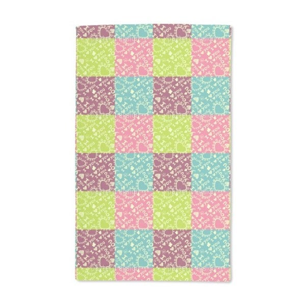The Patchwork of Love Hand Towel (Set of 2)
