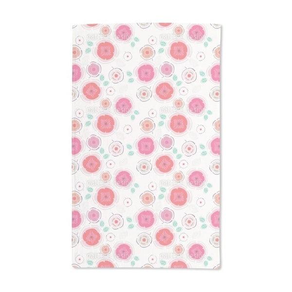 Enchanting Patchwork Flowers Hand Towel (Set of 2)