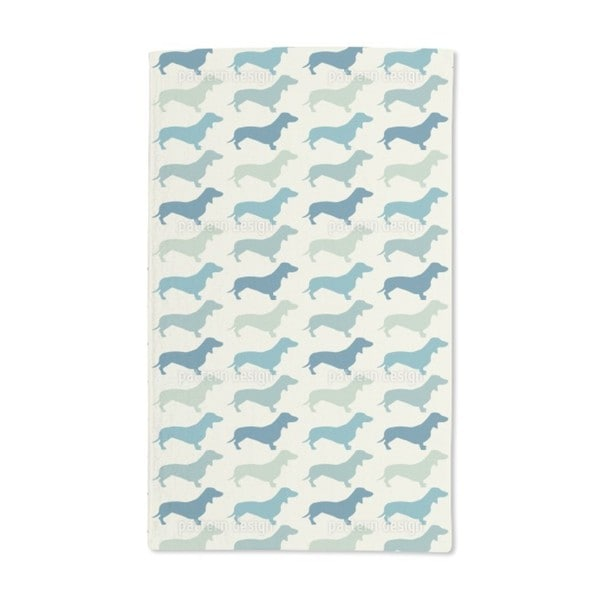 Dachshund Vintage Hand Towel (Set of 2)