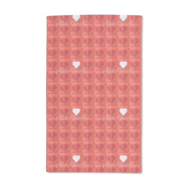 Crystal Hearts Hand Towel (Set of 2)