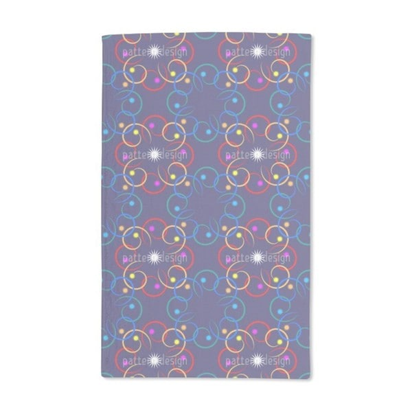 Galactica Blue Hand Towel (Set of 2)