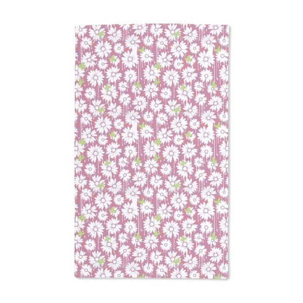 Painted Daisies Hand Towel (Set of 2)