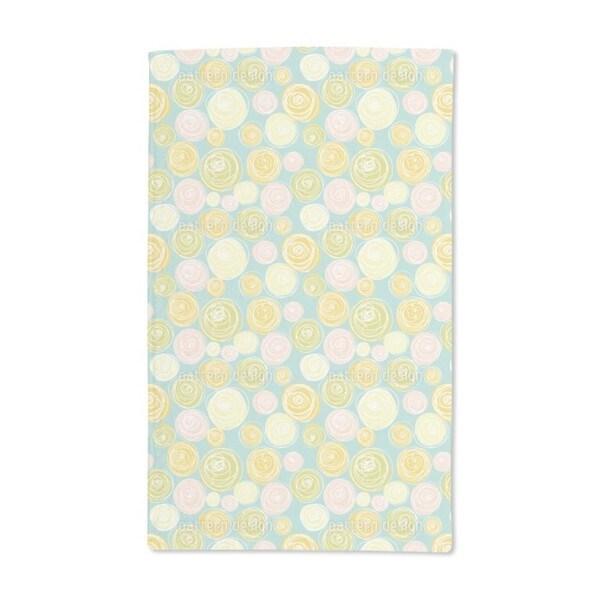 Ranunculus Flower Dots Hand Towel (Set of 2)