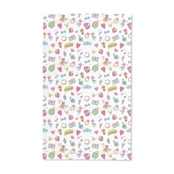 Sweet Little Things of Love Hand Towel (Set of 2)