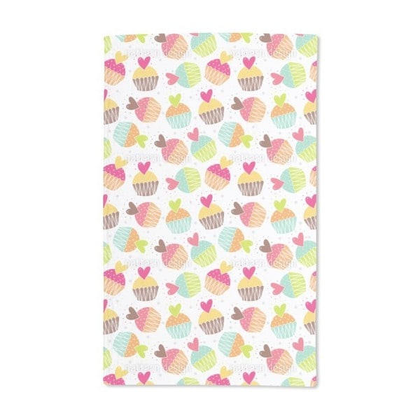Muffins With Heart Hand Towel (Set of 2)