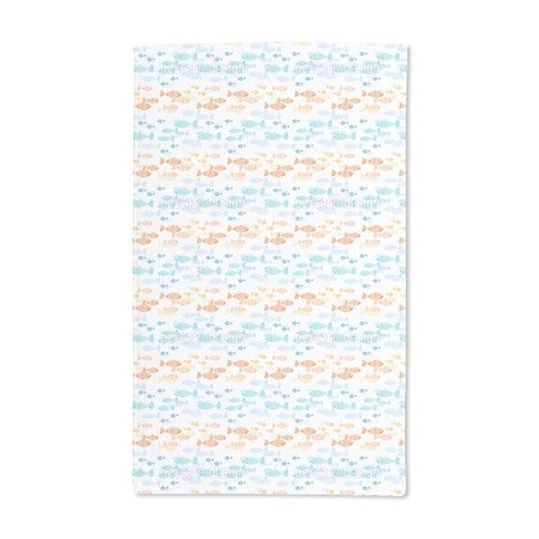 Crossing Fish Swarms Hand Towel (Set of 2)