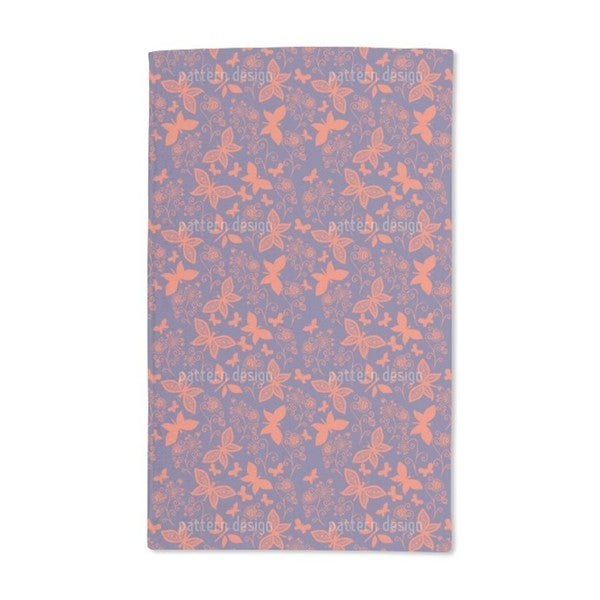 Late Butterfly Romance Hand Towel (Set of 2)
