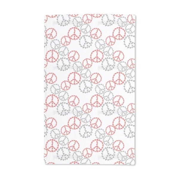 Peace Revival White Hand Towel (Set of 2)