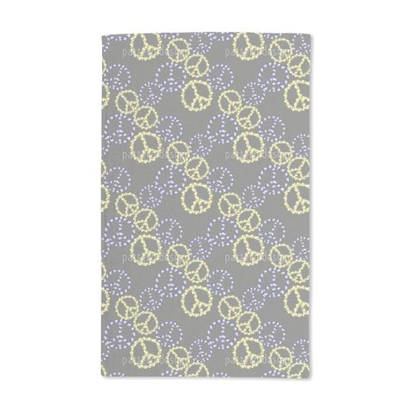 Peace Revival Grey Hand Towel (Set of 2)