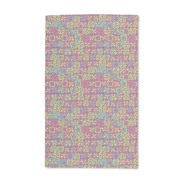 Crossover Mosaic Flowers Hand Towel (Set of 2)