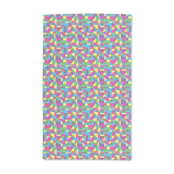 Colorful Glass Windows Hand Towel (Set of 2)