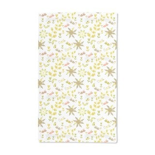 Birds Fly Over the Flower Bed Hand Towel (Set of 2)
