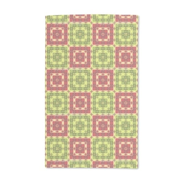 Squared Ornamental Tile Hand Towel (Set of 2)