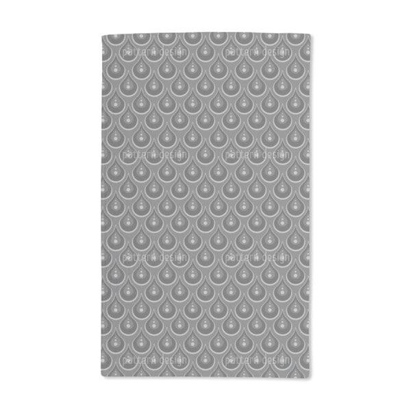 Grey Pearl Rain Hand Towel (Set of 2)